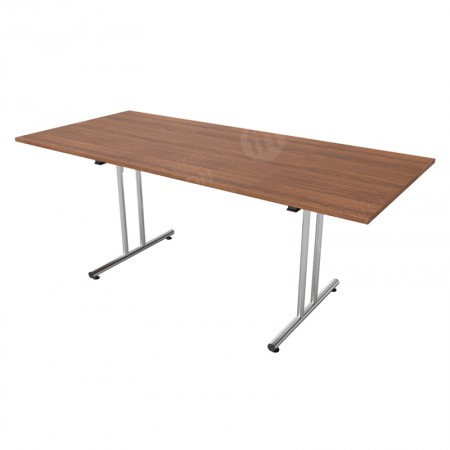 https://www.onlinefurniturehire.com/1800mm Walnut Modular Rectangular Table