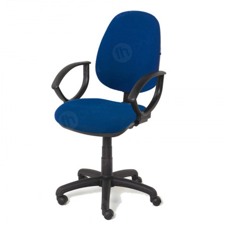 https://www.onlinefurniturehire.com/Blue Operators Chair with Arms