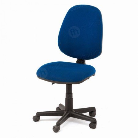 https://www.onlinefurniturehire.com/Blue Operators Chair without Arms