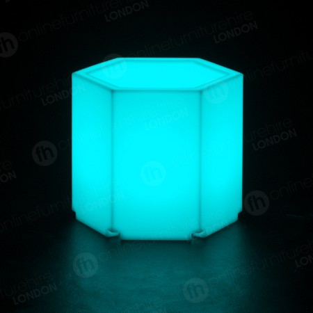 LED Colour-Changing Hexagonal Table