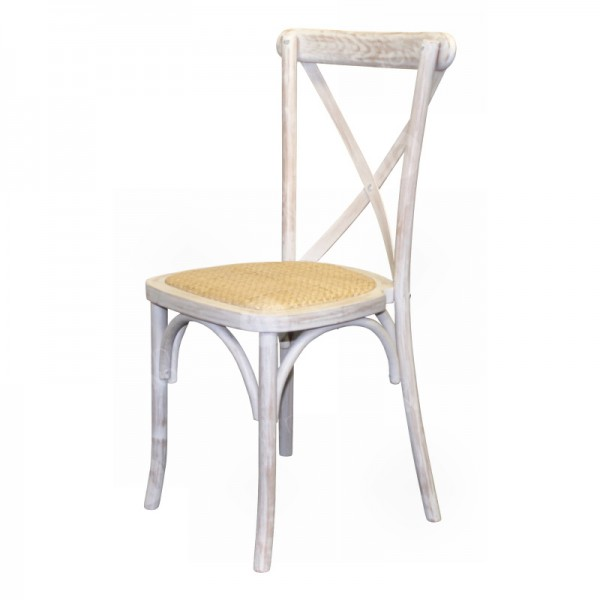 Limewash Cross Back Chair