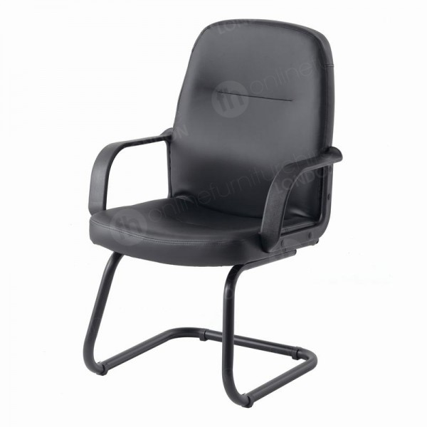 Portland Leather Cantilever Chair