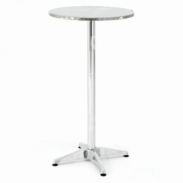 Flip-Top Chrome Poseur Table