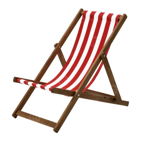 Red Stripe Deckchair