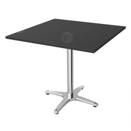 Square Bistro Table Black - 800mm Flip-Top