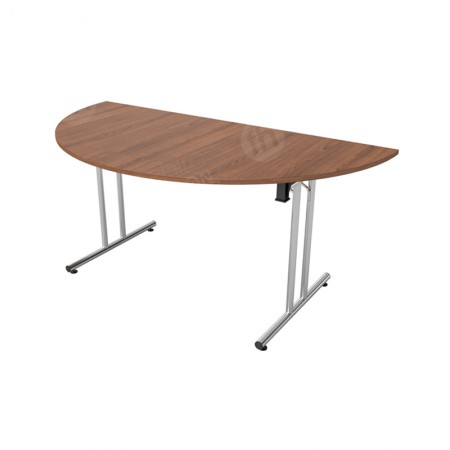 Walnut Modular Folding Table D-End